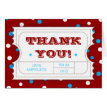 Admission Ticket Carnival Colour Thank You Card