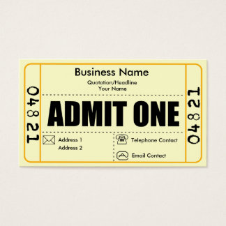 Admit One Business Card