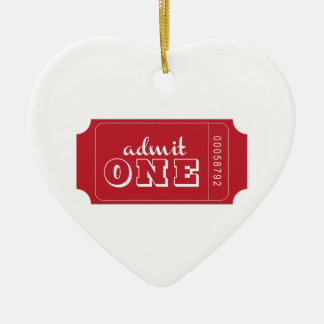 Admit One Christmas Ornament
