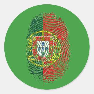 ADN Português (DNA) - Tugas Camisas e Presentes Round Sticker
