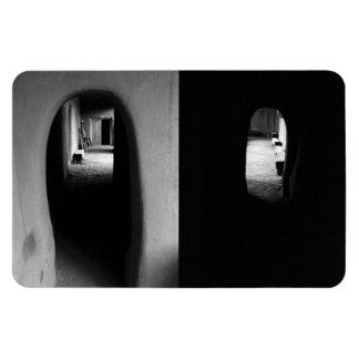 Adobe Corridor: Black and White photos Rectangular Photo Magnet