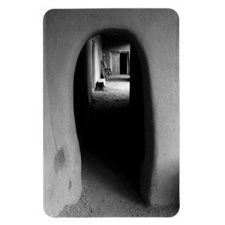Adobe Passageway: Black & White photo Rectangular Photo Magnet