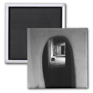 Adobe Passageway: Black & White photo Magnet