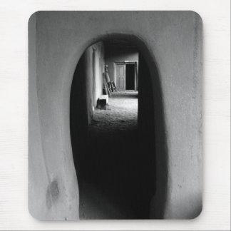 Adobe Passageway: Black & White photo Mouse Pad