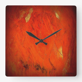 Adobe Shadows Square Wall Clock