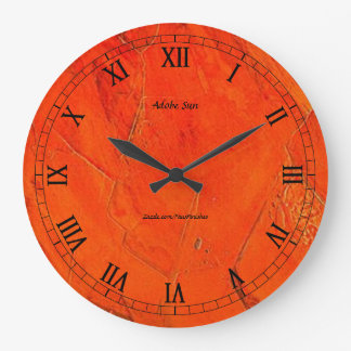 Adobe Sun Faux Finish Large Clock