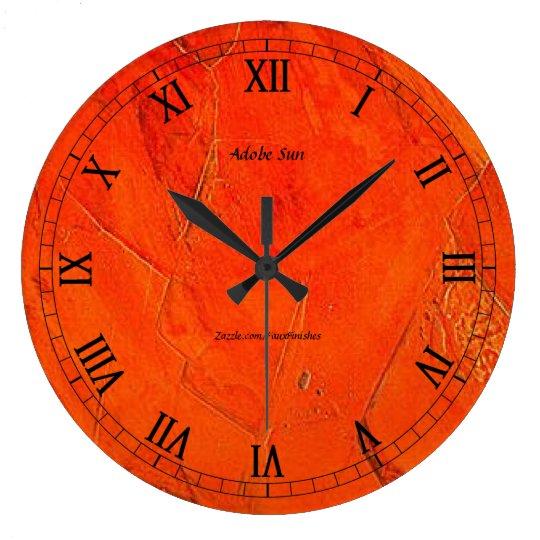 Adobe Sun Faux Finish Large Clock