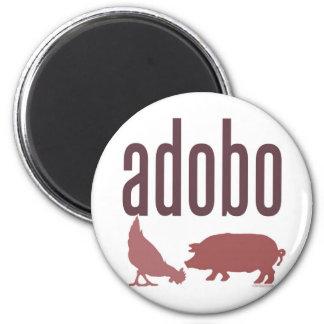 Adobo: Chicken & Pork 6 Cm Round Magnet