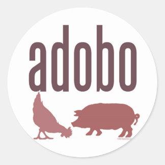 Adobo: Chicken & Pork Round Sticker