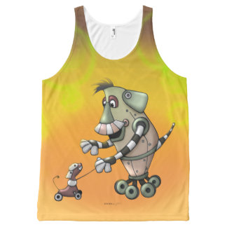 ADOGGY AND FLETCH CARTOON FUNNY UNISEX SHIRT All-Over PRINT TANK TOP