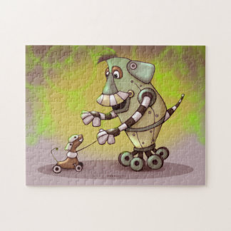 ADOGGY AND FLETCH CARTOON ROBOTS PUZZLE 11 X 14