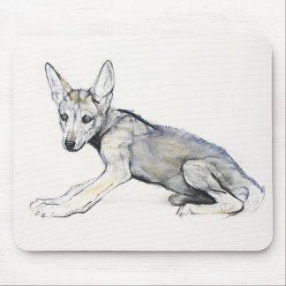 Adolescent Arabian Wolf Pup 2009 Mouse Mat