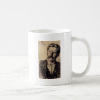 Adolph von Menzel Head Of A Man Classic White Coffee Mug