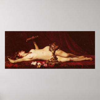 Adolphe Alexandre Lesrel Bacchante Enivree A Drunk Poster