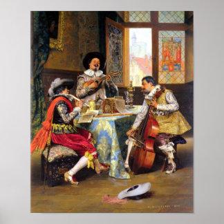 ADOLPHE LESREL-THE MUSICAL TRIO-PRINT POSTER