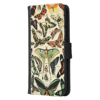 Adolphe Millot Papillons Samsung Galaxy S5 Wallet Case
