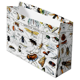 Adolphe Millot's Insectes Large Gift Bag