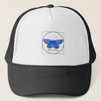 Adonis Blue Butterfly Watercolor Painting Trucker Hat