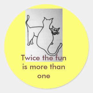 Adopt 2 round sticker