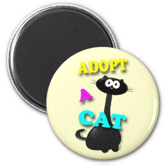 Adopt a Cat 6 Cm Round Magnet