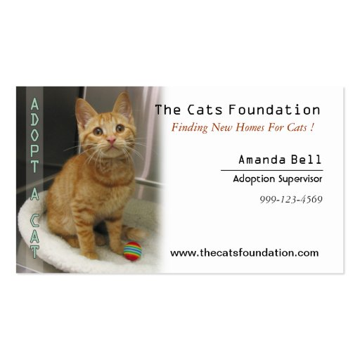 Adopt a Cat Business Card