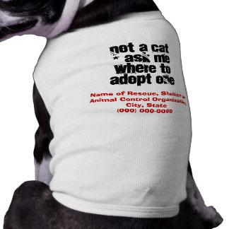 Adopt a Cat Friendly Dog Sleeveless Dog Shirt