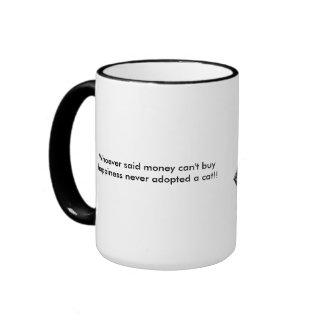 Adopt a Cat Ringer Coffee Mug
