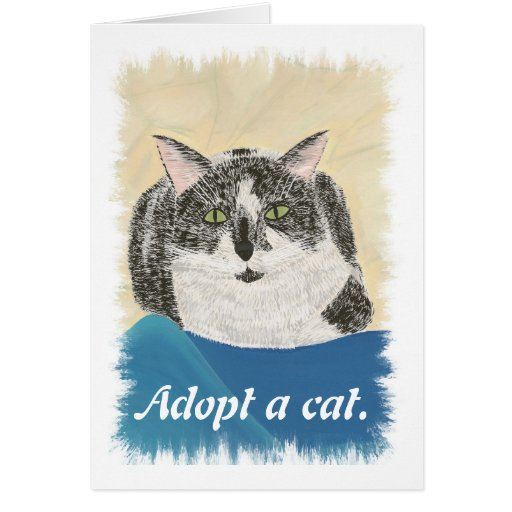 Adopt a cat promotion Cards