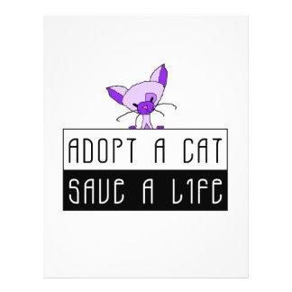 Adopt A Cat Save A Life - Customisable 21.5 Cm X 28 Cm Flyer