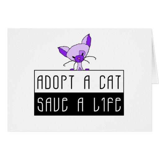 Adopt A Cat Save A Life - Customizable Cards