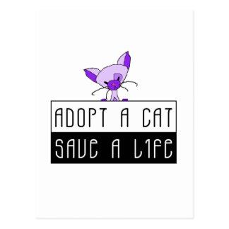 Adopt A Cat Save A Life - Customizable Postcard