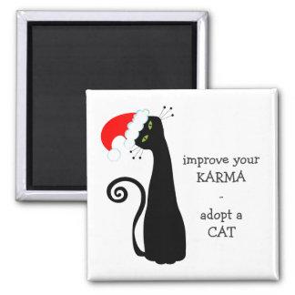 Adopt a Cat Square Magnet