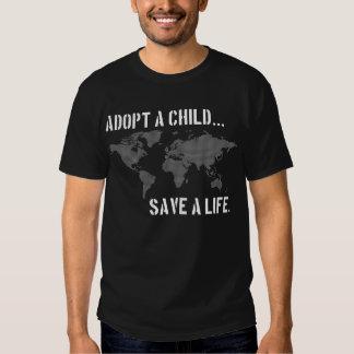 Adopt a Child - worldview dark shirt