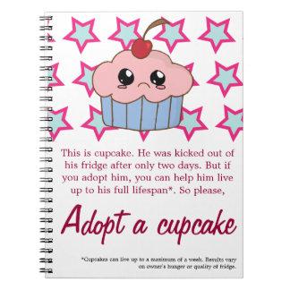 Adopt a Cupcake Notebook