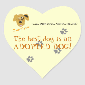 Adopt a dog -Animal Shelter Rescue Sticker