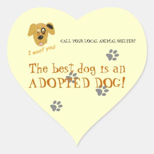 Adopt a dog!-Animal Shelter/Rescue Sticker