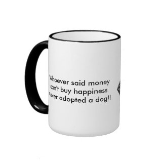 Adopt A Dog Ringer Coffee Mug