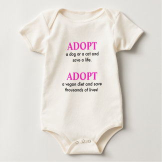 ADOPT, a dog or a cat and save a life., ADOPT, ... Romper