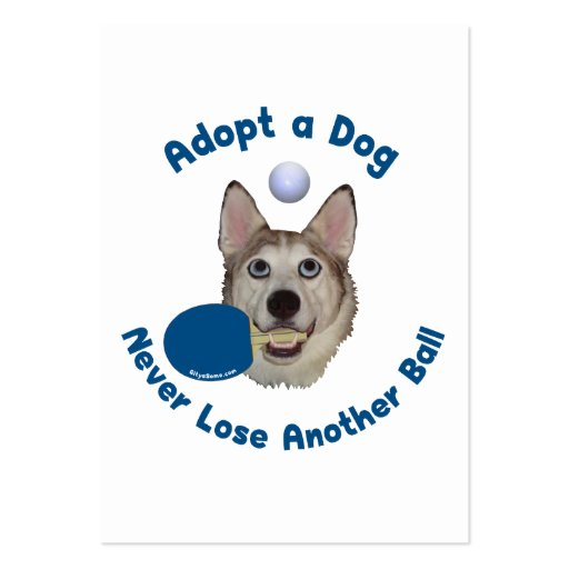 Adopt a Dog Ping Pong Business Cards