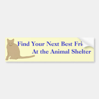 Adopt A Friend Bumper Sticker 1