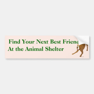 Adopt A Friend Bumper Sticker 17