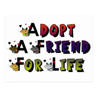 Adopt a Friend for Life Postcard