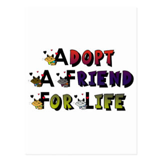 Adopt a Friend for Life Postcard