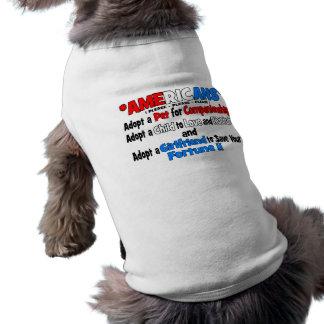 Adopt A Girlfriend Dog Tee Shirt