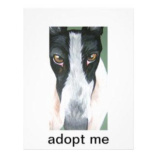 Adopt a greyhound 21.5 cm x 28 cm flyer