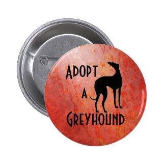 Adopt a Greyhound Dog 6 Cm Round Badge
