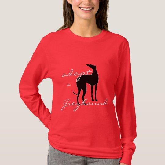 Adopt a Greyhound Dog Lovers Animal Rescue T-Shirt
