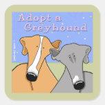 Adopt a Greyhound Dog Square Sticker