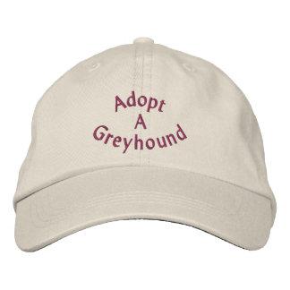 Adopt A Greyhound Embroidered Baseball Cap