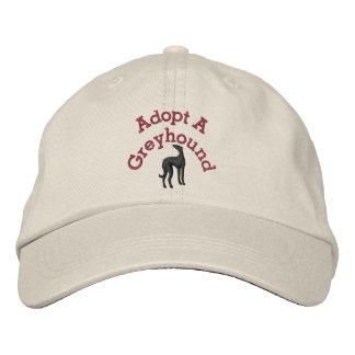 Adopt A Greyhound Embroidered Hat